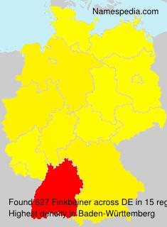 Familiennamen Finkbeiner - Germany