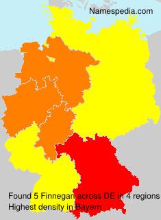 Familiennamen Finnegan - Germany