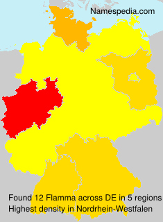 Surname Flamma in Germany