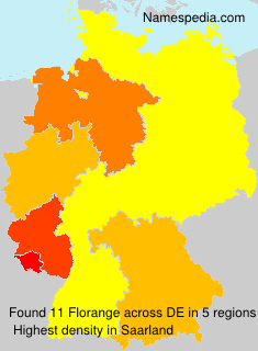 Surname Florange in Germany