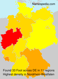 Surname Foot in Germany