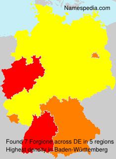 Familiennamen Forgione - Germany
