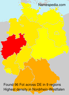 Familiennamen Fot - Germany