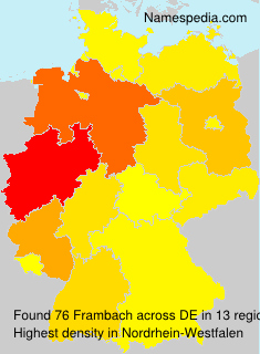 Surname Frambach in Germany