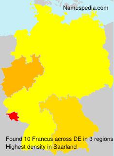 Familiennamen Francus - Germany