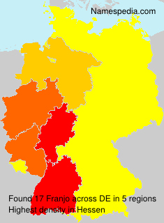 Surname Franjo in Germany