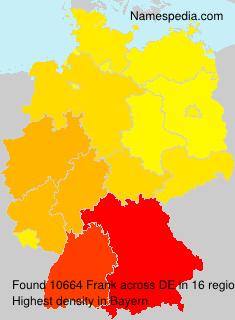 Familiennamen Frank - Germany
