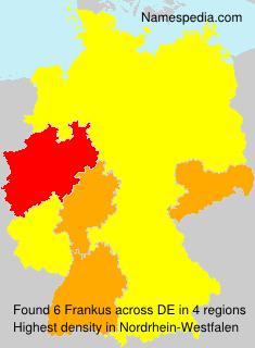 Surname Frankus in Germany