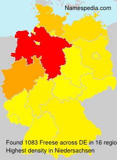 Surname Freese in Germany