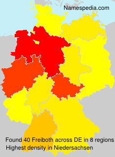 Surname Freiboth in Germany