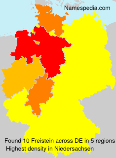Surname Freistein in Germany