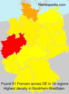 Surname Frenzen in Germany