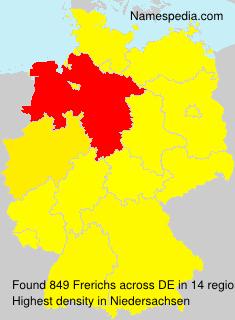Familiennamen Frerichs - Germany