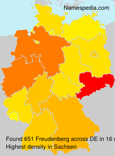 Surname Freudenberg in Germany