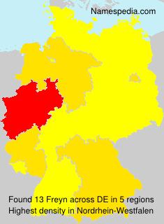Familiennamen Freyn - Germany