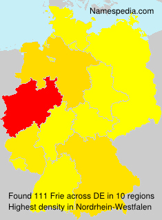 Surname Frie in Germany