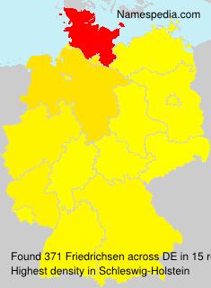Surname Friedrichsen in Germany