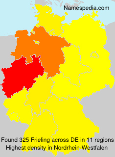 Surname Frieling in Germany