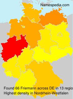 Surname Friemann in Germany