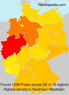 Surname Friese in Germany