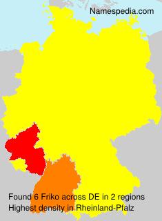 Surname Friko in Germany