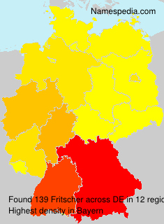 Surname Fritscher in Germany