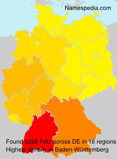 Familiennamen Fritz - Germany