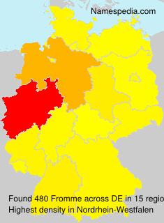 Familiennamen Fromme - Germany