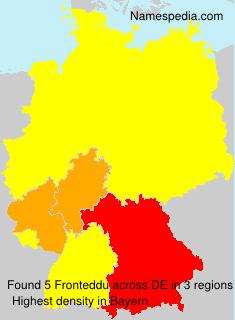 Surname Fronteddu in Germany