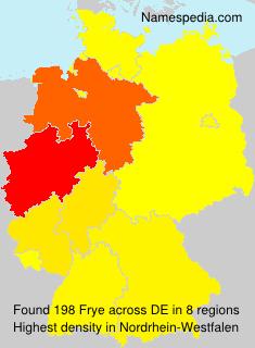 Surname Frye in Germany