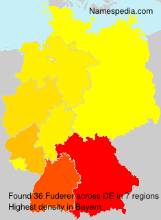 Familiennamen Fuderer - Germany