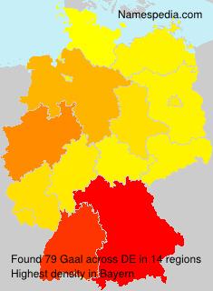 Familiennamen Gaal - Germany