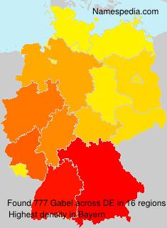 Surname Gabel in Germany