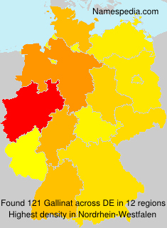 Surname Gallinat in Germany
