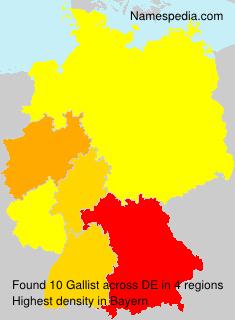 Surname Gallist in Germany