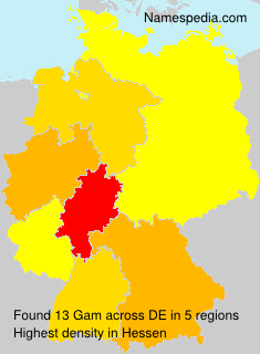 Surname Gam in Germany