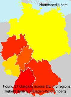Surname Gargiulo in Germany