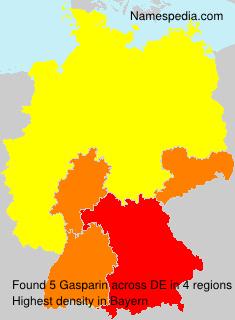Familiennamen Gasparin - Germany