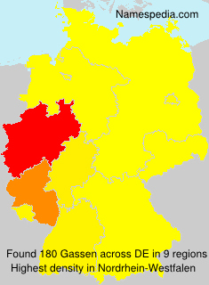Surname Gassen in Germany