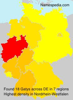 Surname Gatys in Germany