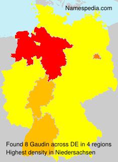 Familiennamen Gaudin - Germany