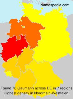 Surname Gaumann in Germany