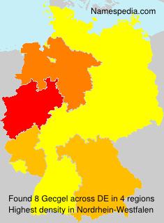 Surname Gecgel in Germany