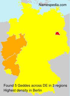 Surname Geddes in Germany