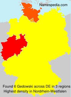 Surname Gedowski in Germany