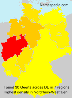 Surname Geerts in Germany