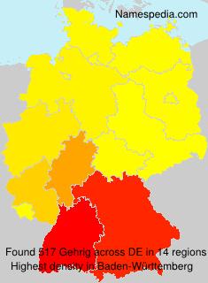 Surname Gehrig in Germany