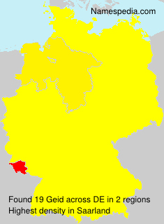 Surname Geid in Germany
