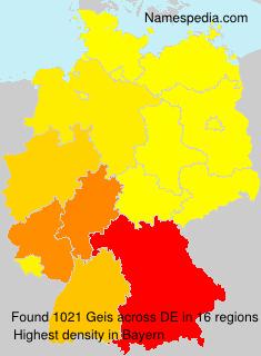 Familiennamen Geis - Germany
