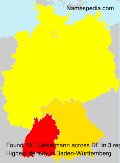 Surname Geiselmann in Germany